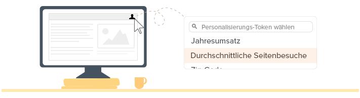 Personalisierungs-Tokens einfügen