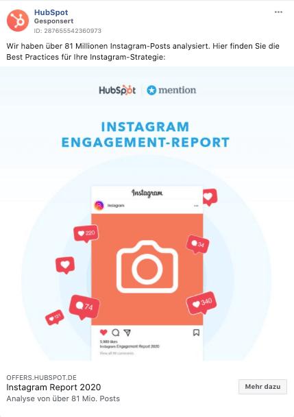 facebook-ad-beispiel-hubspto-report