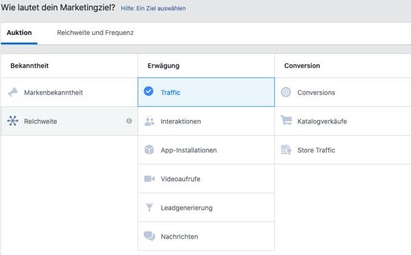 marketingziel-fuer-facebook-werbung-auswaehlen
