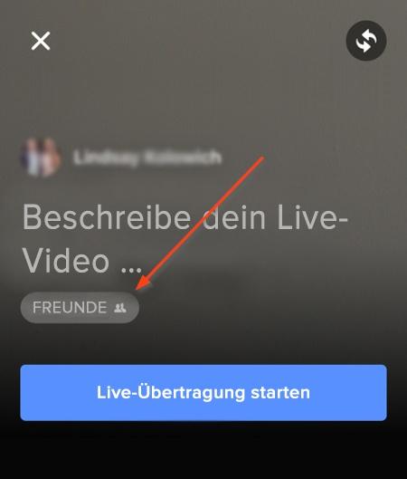Einstellungen für Livestream-Veröffentlichung