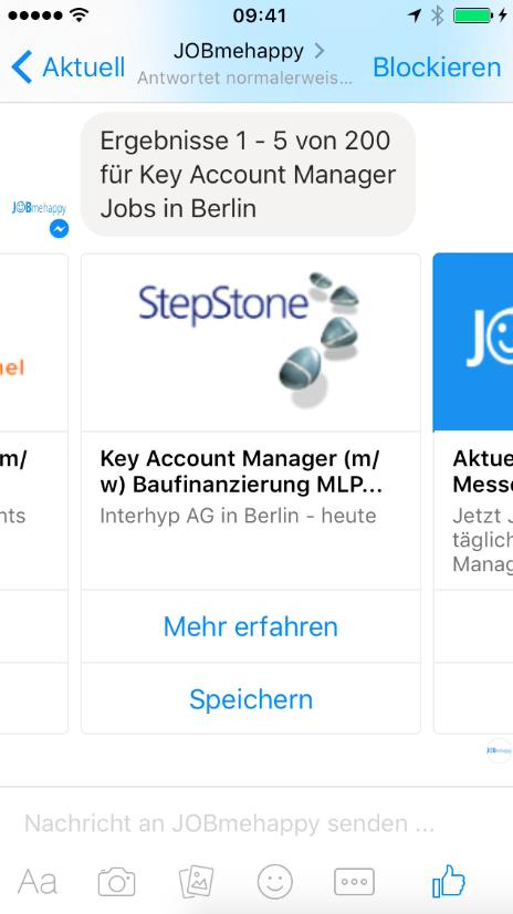 Messenger-Bot von JobMeHappy