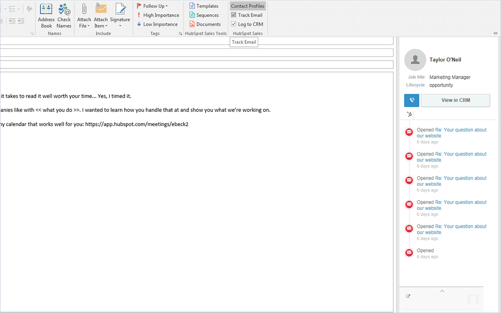 HubSpot Sales – Outlook-Integration