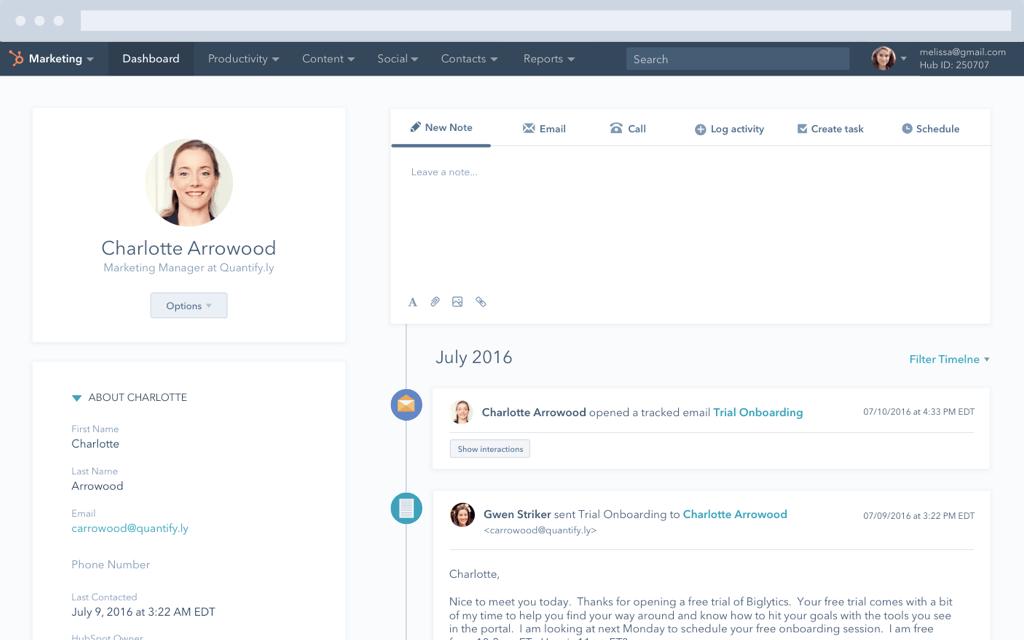 HubSpot Marketing-Software – Lead-Management