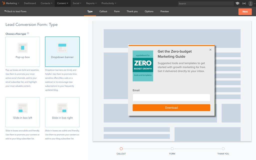 Lead-Konvertierung mit HubSpot Marketing Free