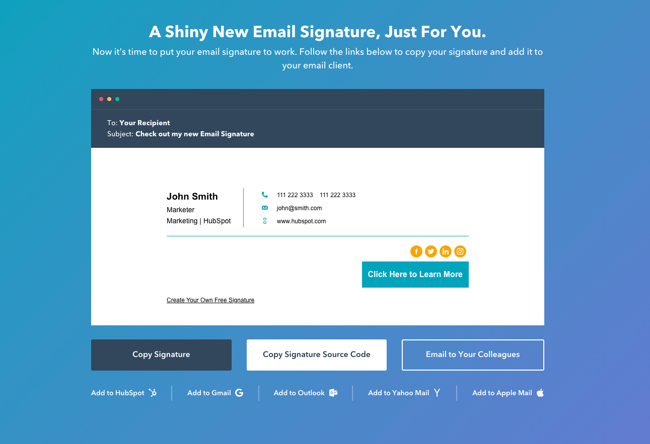 Copy Your Email Signature