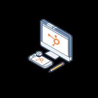 Mobilgerät und Desktop - HubSpot