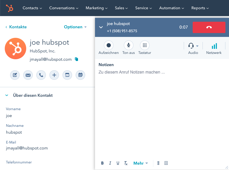 Erste Schritte mit der Anrufaufzeichnungssoftware von HubSpot