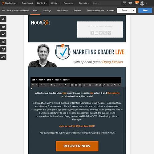 Mit HubSpot im Handumdrehen E-Mails erstellen und versenden
