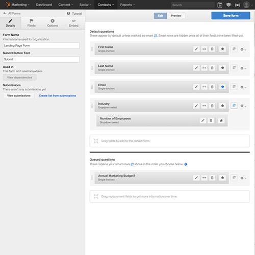 Lead-Informationen & Formulare – HubSpot Lead-Management