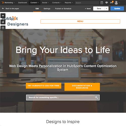 HubSpot Website-Plattform – erstellen Sie eine anwenderfreundliche Website, die Kunden überzeugt