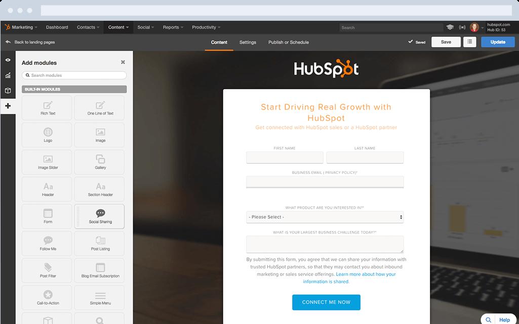 HubSpot Marketing-Software – Landing-Pages – Eine Landing-Page erstellen
