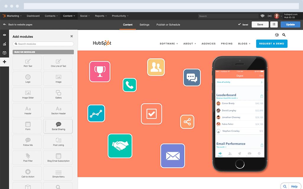HubSpot Marketing-Software – Website-Plattform – Web-Inhalte erstellen