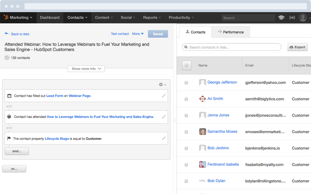 HubSpot Marketing-Software – Lead-Management – Leads segmentieren