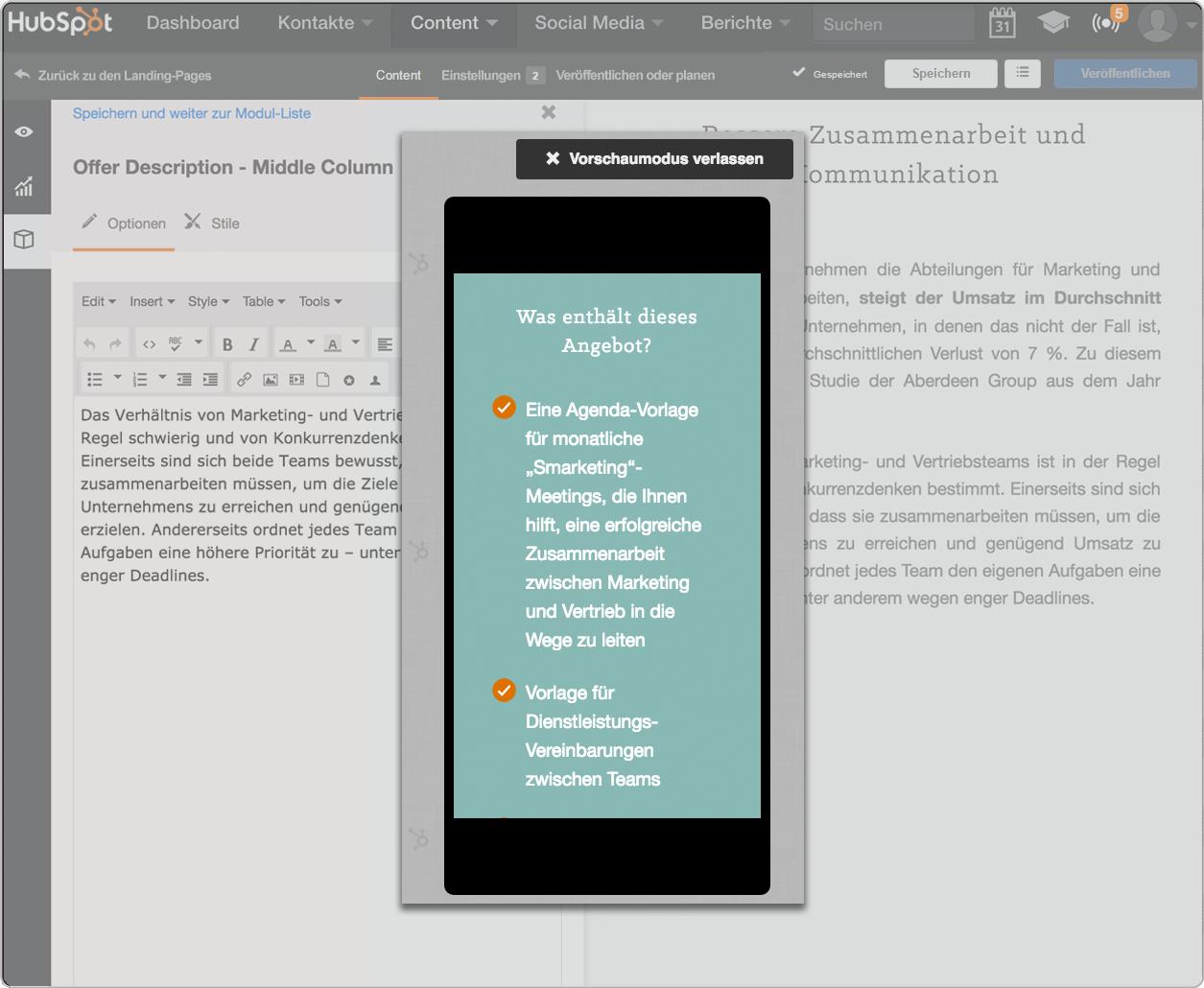Die Blogging-Software von HubSpot – automatische Optimierung für Mobilgeräte